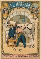POSTAL DE FELICITACION DE EL HERRERO FELICITA A V. LAS PASCUAS DE NAVIDAD (NAVIDAD-CHRISTMAS) - Publicité