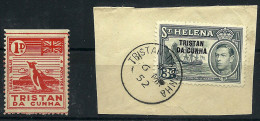 "(5374)  Tristan Da Cunha 1946,  1 D Local Stamp So Called ""Potato Stamp"" Mint Rest Of Hinge - Non Classés"