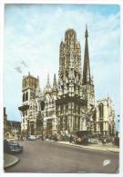 CPSM COLORISEE ROUEN, AUTO VOITURE RENAULT 4CV 4 CV, SEINE MARITIME 76 - Rouen