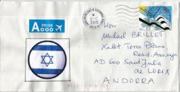 ISRAËL-DEUTSCHLAND, Emission Conjointe (Weiße Stadt Tel Aviv) , Sur Lettre Adressée En Andorre - Joint Issues