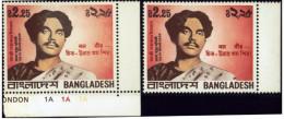 BANGLADESH-WRITER-POET- X 2-MNH-B6-777 - Bangladesh