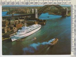 Piroscafi Traghetti Bateaux Ferryboat Sydney, SS Oriana, Overseas Terminal, Sidney Harbour Bridge - Dampfer