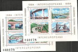 Romania 1984 BF Nuovo** - Mi.202/3  Yv.166/7 - Blocchi & Foglietti