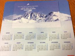 Tapis De Souris Andorran (montagnes Enneigées)  En Langue Catalane Calendrier 2016 - Unclassified