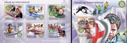 Togo 2011, Handicap, Basket, Sking, Climbing, Cycling, Rotary, Diana, Red Cross, 6val In BF+BF - Handisport