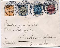 DANEMARK LETTRE DEPART CHARLOTTENLUND 10-7-03 POUR LA FRANCE - 1864-04 (Christian IX)