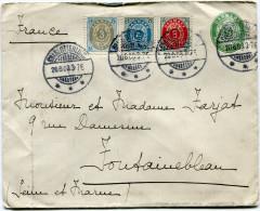 DANEMARK ENTIER DEPART CHARLOTTENLUND 20-6-03 POUR LA FRANCE - 1864-04 (Christian IX)