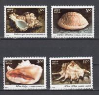 Shell (AN) India 1998 Mi Nr 1667 - 1670 Postfris - Coneshells