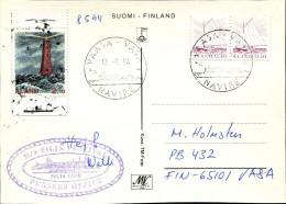 (1559) Aland Schiffspost SILJA LINE, M/S Silja Festival Pursers Office, Vom Mai 1994 Gest. VAASA VASA, Leuchtturm, Boot - Aland
