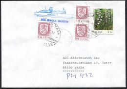 (1560) Aland Schiffspost SILJA LINE, MS WASA QUEEN, Vom Mai 1996 Gest. VAASA VASA - Aland