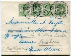 DANEMARK LETTRE DEPART CHARLOTTENLUND 8-9-03 POUR THANN PUIS REEXPEDIEE A RIXHEIM ET DE NOUVEAU REEXPEDIEE A MULHOUSE - 1864-04 (Christian IX)