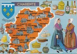 CP La Charente Carte Géographique Illustrée - Ohne Zuordnung