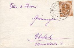 BRD 124 EF Auf Brief  Mit Stempel: Eberbach 31.12.1952 - BRD
