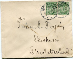 DANEMARK LETTRE DEPART HELLERUP ?-8-03 POUR LE DANEMARK - 1864-04 (Christian IX)