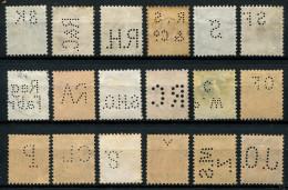 114 - 18 Diverse SCHWEIZ Perfins Inkl. Stehende Helvetia