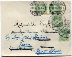 DANEMARK LETTRE DEPART KJOBENHAVN 27-8-03 POUR LE DANEMARK REEXPEDIEE EN FRANCE - 1864-04 (Christian IX)