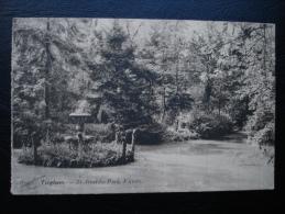 Cpa/pk Tieghem Tiegem St- Arnoldus Park, Vijvers - Anzegem