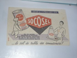 BUVARD Publicitaire  BLOTTING PAPER   -  Sel De Table  SOCOSEL - Alimentaire