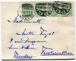 DANEMARK LETTRE DEPART KJOBENHAVN 22-10-03 POUR LA FRANCE - 1864-04 (Christian IX)