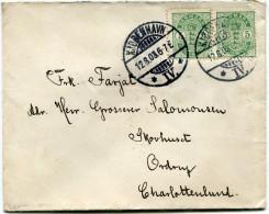 DANEMARK LETTRE DEPART KJOBENHAVN 12-8-03 POUR LE DANEMARK - 1864-04 (Christian IX)