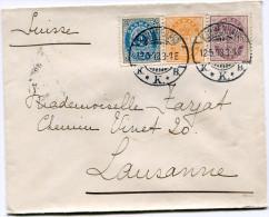 DANEMARK LETTRE DEPART KJOBENHAVN 12-5-03 POUR LA SUISSE - 1864-04 (Christian IX)