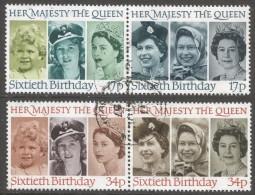 Great Britain. 1986 60th Birthday Of Queen Elizabeth II. Used Complete Set (Setenant Pairs). SG 1316a-1618a - 1952-.... (Elizabeth II)