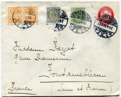DANEMARK ENTIER DEPART KJOBENHAVN 13-5-03 POUR LA FRANCE - 1864-04 (Christian IX)