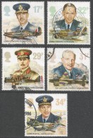 Great Britain. 1986 History Of The Royal Air Force. Used Complete Set SG 1336-1340 - 1952-.... (Elizabeth II)