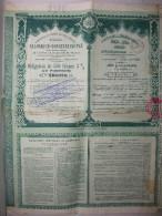 Obligation 1893 Compagnie Du Chemin De Fer Ottoman Salonique Constantinople - Chemin De Fer & Tramway