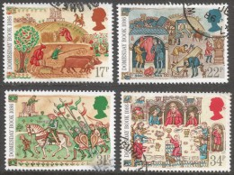 Great Britain. 1986 900th Anniv Of Domesday Book. Used Complete Set SG 1324-1327 - 1952-.... (Elizabeth II)