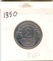 2 Francs  Morlon ALU  1950 B  TTB+/SUP - I. 2 Francs