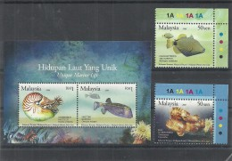 2007- Malaysia  Joint Issue Brunei -  Marine Life -Minisheet With 2 Stamps MNH** - Marine Life