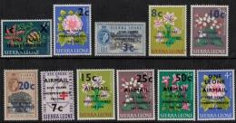 Sierra Leone 1965 SC 317-322, C56-C60 MNH - Sierra Leone (1961-...)