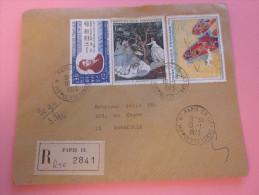 """LETTRE Recommandé TARIF 1er ECHELON étiquette""""R"""" De Guichet PARIS IX =>MARSEILLE Aff. Composé Tableaux 1973 - Poststempel (Briefe)"""
