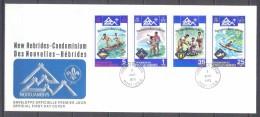 Nouvelles Hébrides FDC Enveloppe Premier Jour YT N°410/413 Jamborée Mondial En Norvège Scoutisme - FDC