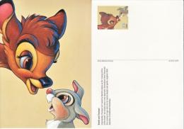 DISNEY POSTAL CARD    BAMBI  &  THUMPER   ** - Entiers Postaux