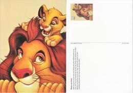 DISNEY POSTAL CARD    MUFASA  &  SIMBA   ** - Postal Stationery