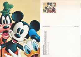 DISNEY POSTAL CARD    MICKEY  MOUSE  &  FRIENDS   ** - Postal Stationery