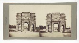 PHOTO STEREO ORANGE ARC DE TRIOMPHE DE MARIUS CIRCA 1860 1870 /FREE SHIPPING REGISTERED - Photos Stéréoscopiques