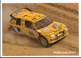 PARIS DAKAR 87 - 205 TURBO 16 Vatanen - Cpm Cigle Peugeot - Voyagée 1987 - Rally Racing