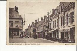 Mont-Cassel  59   La Rue Du Marechal Foch Bien Animée-Voiture-Café-Restaurant Et Epicerie - France