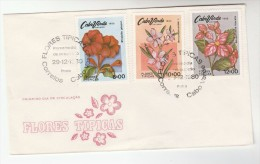1980 CAPE VERDE FDC Stamps FLOWERS Cover Flower - Cap Vert
