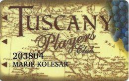 Tuscany Casino Las Vegas Slot Card - Cpi 2039413 On Reverse - Casino Cards