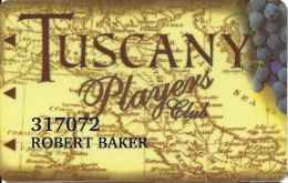 Tuscany Casino Las Vegas Slot Card - Cpi 2046431 On Reverse - Casino Cards