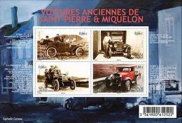 Saint-Pierre-et-Miquelon 2015 Block  MNH  Voitures Anciennes Old Cars Car Voiture - Voitures