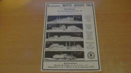 FLERS-de-L'ORNE - FILATURES ET TISSAGES / MOTTE - BOSSUT Fils ROUBAIX FILATURES - PUBLICITES DE 1934. - Publicités