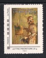 FRANCE Un Timbre TVP 20gr Personnalisés Gustave COURBET Peignant L´ORIGINE DU MONDE 7 Juin 2014 ORNANS - France