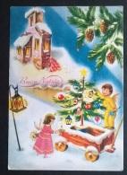 BUON NATALE DISEGNATA FIRMATA GALBI  (47) - Natale