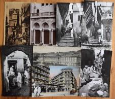 Alger - 33 CP : 4 CPA & 29 CPSM - Certaines Sont Animées : Qq Belles Animations - Casbah - Rue D´isly - Poste - Etc. - Cartes Postales