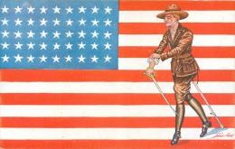 Guerre 14-18 Illustrée Par Sager, Drapeaux Alliés, Etats-Unis, Soldat Avec Sabre, Verso Publicité Welcome - Guerre 1914-18